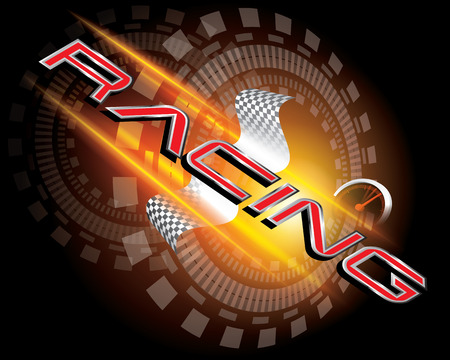 car race track: RACING CONCEPT VECTOR Illustration