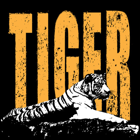 conserve: Conserve the tiger concept vector