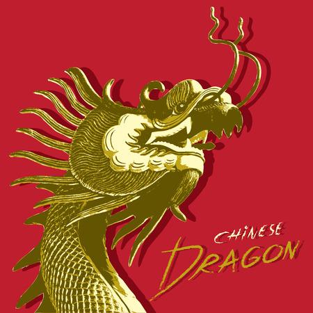 cabeza de dragon: Pista del drag�n vector