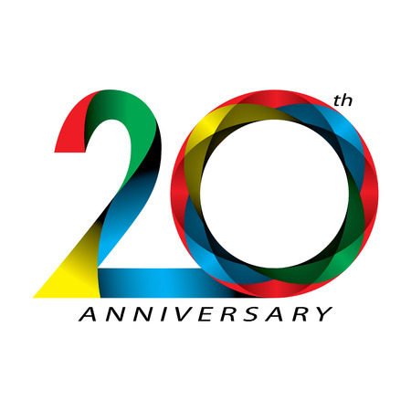 anniversary celebration: 20 years Anniversary, concept vector
