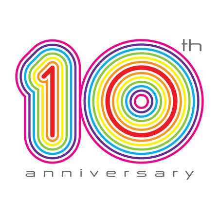 anniversaire: 10 ann�es anniversaire, le concept illustration vectorielle
