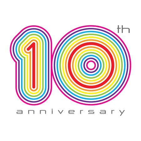 10 years anniversary, concept vector illustration 矢量图像