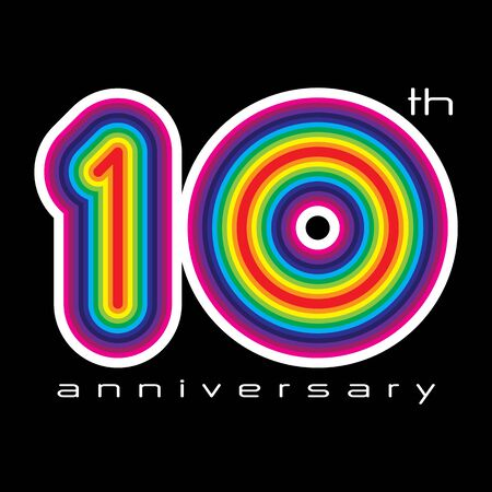 10 years anniversary: 10 years anniversary, concept vector illustration Illustration