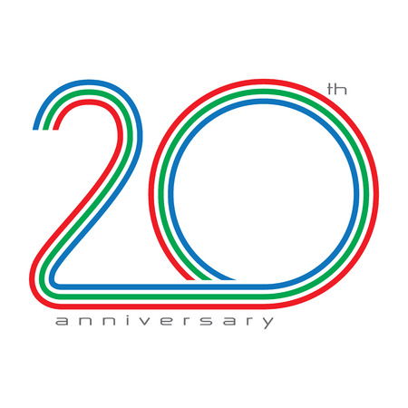 20 years Anniversary, concept vector
