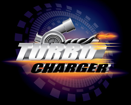 Turbocharger concept vector