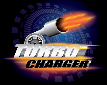 performance: Turbocharger concept vector