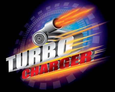 turbocharger: Turbocharger concept vector