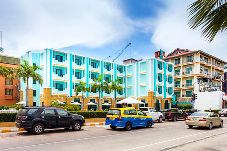 departmentstore: PATTAYA THAILAND  MAY 2 : Wave hotel on seaside road middle Pattaya. May 2 2015 Pattaya Thailand