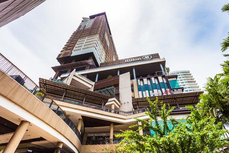 departmentstore: PATTAYA THAILAND  MAY 2 : Hilton hotel on seaside road middle Pattaya. on May 2 2015 Pattaya Thailand