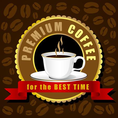creative design: Coffee cup vector Creative design cafe idea Illustration