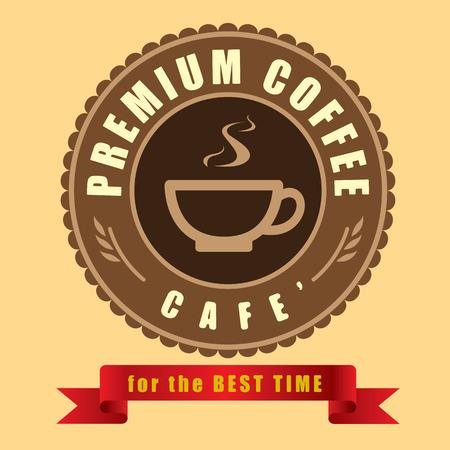 creative design: Coffee cup icon vector Creative design cafe idea Illustration