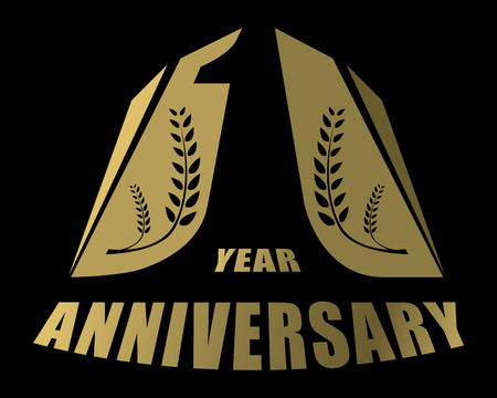 1 year anniversary: one year anniversary creative concept vector Illustration