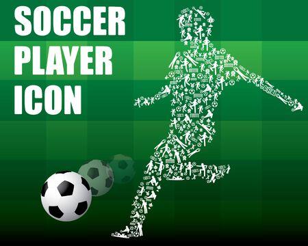 agility: SOCCER FOOTBALL PLAYER ICON Illustration
