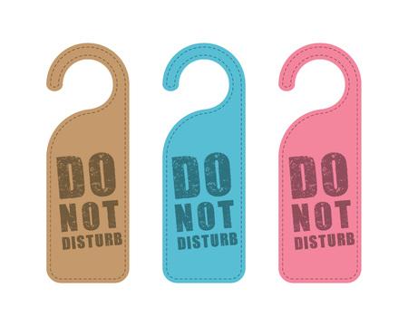 hanger sign do not disturb concept