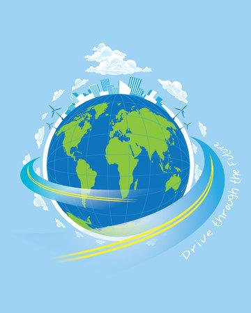 World concept vector Illustration