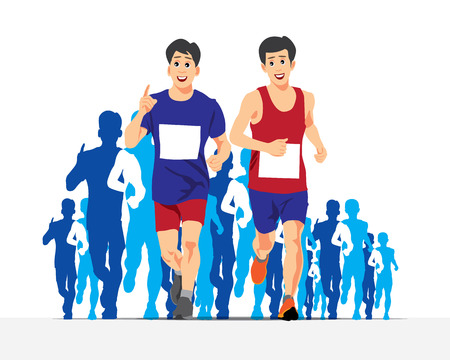 competitions: RUNNING PEOPLE VECTOR CONCEPT