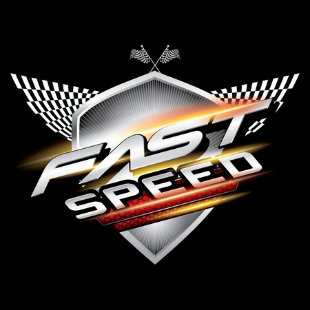 Fast speed logo concept vector.