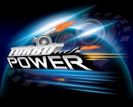 Turbo Power Concept Design Vector Ilustração Vetorial