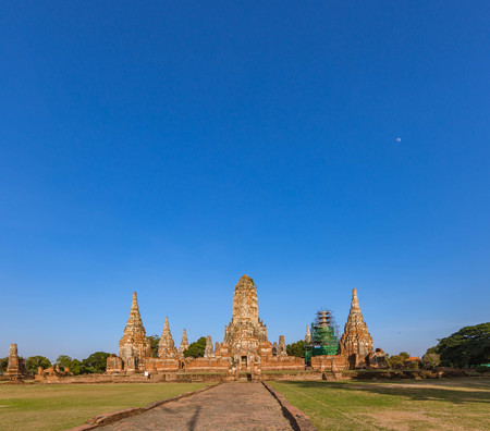 archaeological site at Wat Chaiwatthanaram in Ayutthaya historical city,Thailand