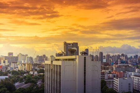 Bangkok, Thailand - July 8: Panorama Cityscape of Bangkok in the morning. on July 8, 2017 in Bangkok, Thailand. Editorial