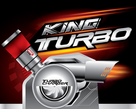 KING TURBO CHARGER CONCEPT VECTOR