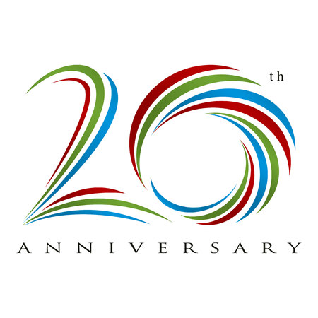 20 years anniversary design vector