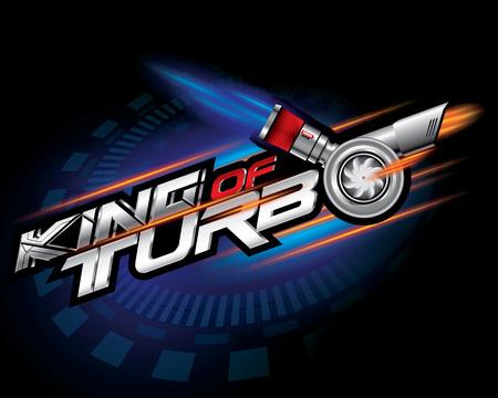 King of turbo icon concept vector illustration. Illustration