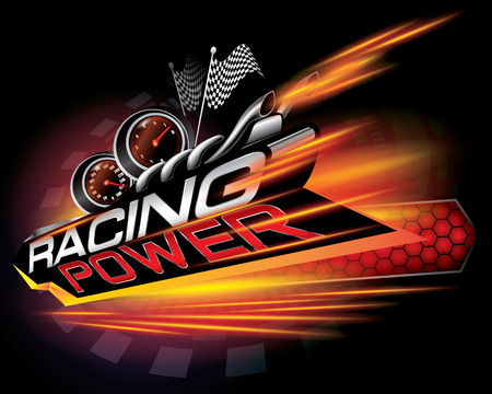 Racing power icon concept vector illustration.