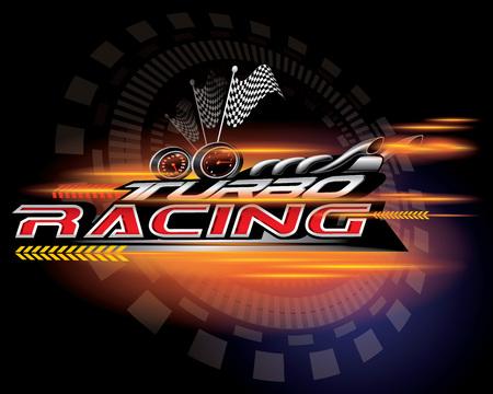 Turbo racing icon concept vector illustration. 矢量图像