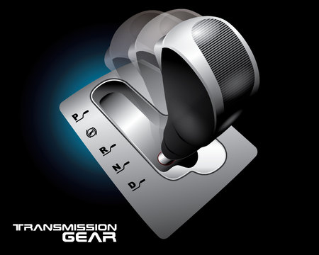 Transmission gear concept vector