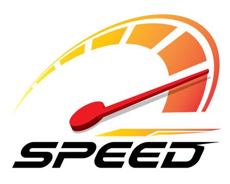 Vector de plantilla de logotipo de velocidad. Logos