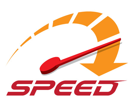 Speed logo template vector.