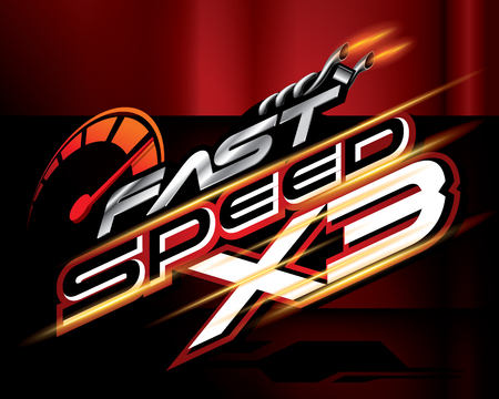 Fast Speed X3 Concept Vector.
