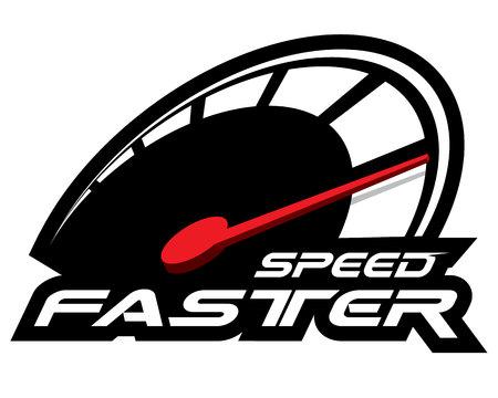 Geschwindigkeit schneller Konzeptvektor.