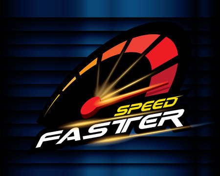 Geschwindigkeit schneller Konzeptvektor. Vektorgrafik