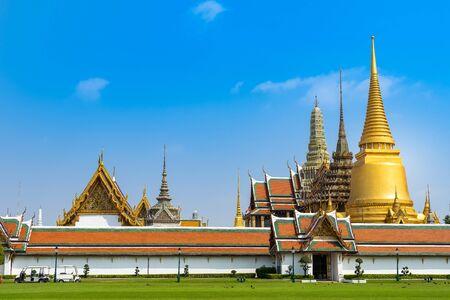 BANGKOK,THAILAND Feb 5: Wat pra kaew, Grand palace on the blue sky. on FEBRUARY 5, 2019 in Bangkok, Thailand.