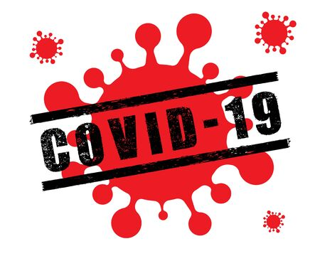 Covid-19 Coronavirus concept logo design vector. outbreak virus