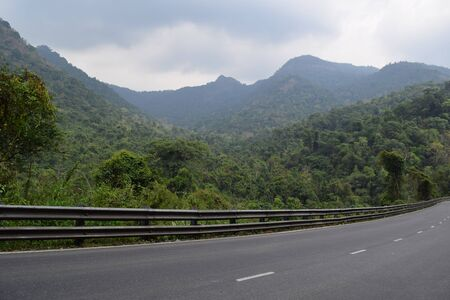 loc: Bao Loc mountain pass highway in Vietnam