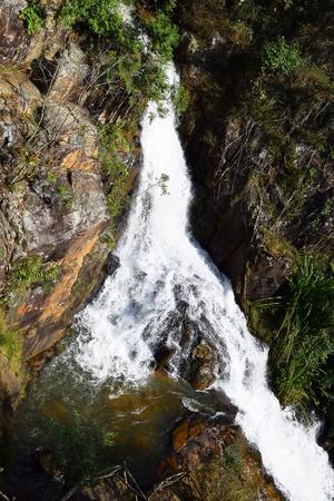 dalat: tropical datanla waterfall in the forest in dalat, vietnam Stock Photo