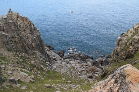 pristine: Pristine sea with rocky cliff at Dai Lanh cape point, Mui Dien, Phu Yen province, easternmost of Viet nam