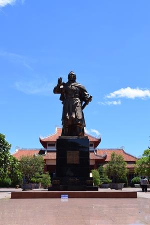 commander: statue of hero commander Quang Trung in historic vietnam war
