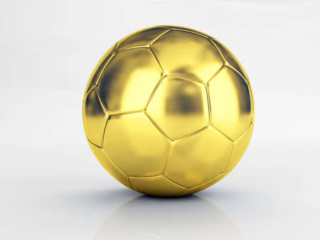 shootout: gold soccer ball Stock Photo