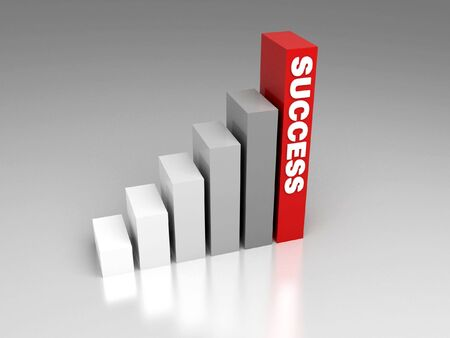 red glittery: way to success Stock Photo