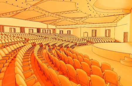 indoor auditorium Stock Photo - 2488542