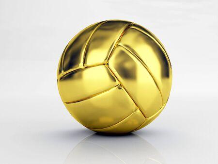 ballon volley: l'or en volley-ball Banque d'images