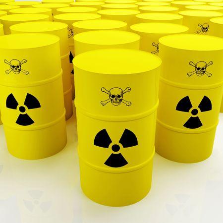 hydrogen bomb: toxic tank Stock Photo