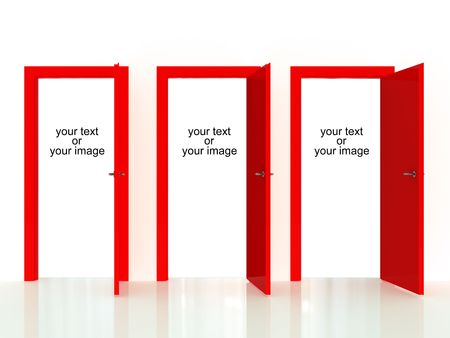 fill in: decision door, fill in with your text or image