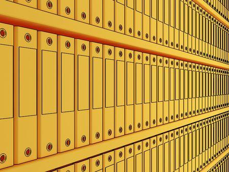 disorganization: folder Stock Photo