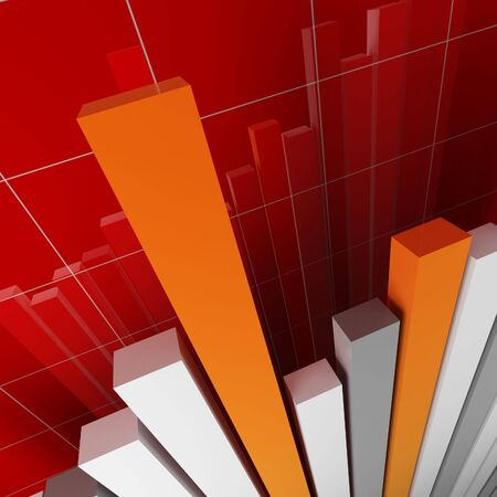 red financial stat photo