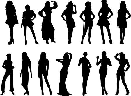 siloette: woman vector figure